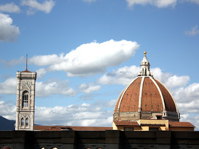 View of the Duomo from the Uffizi in Florence