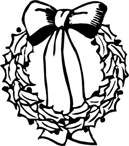 Christmas crown coloring pages