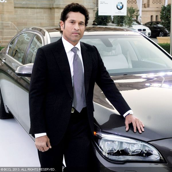 Sachin Tendulkar at an event hosted by His Highness Maharaja Gaj Singh II in support of Indian Head Injury Foundation in Delhi. This event was preview of the new BMW 7 series prior to its launch in India.