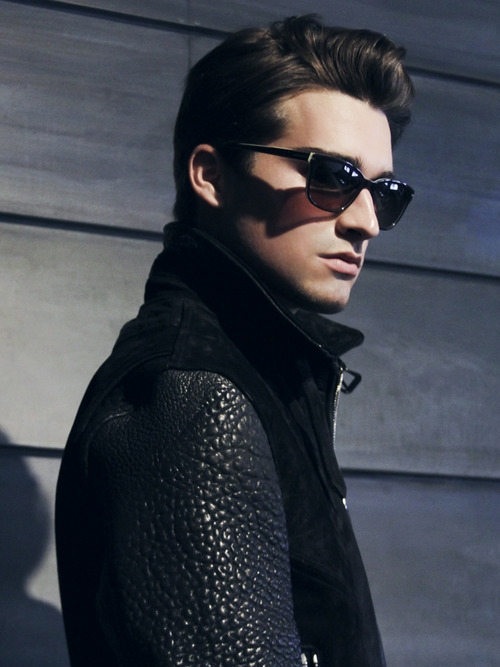 Luke Armitage @ Wilhelmina/LA by Christian Rios.  Jacket by Native Son and sunglasses by Jil Sander, 2012.