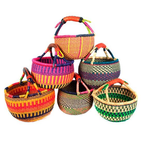 Bolgatanas Bolgas baskets cestas mercado Ghana Africa