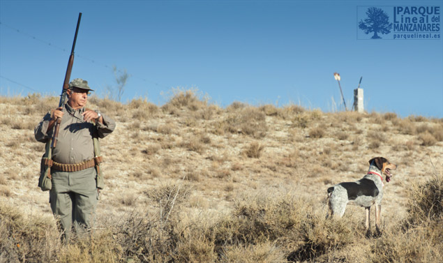 cazadores en las Salinas de Espartinas