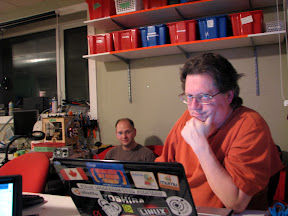 IRC meeting IRL at Hacklab in Toronto, after the Toronto Maverick release party with Bob Jonkman