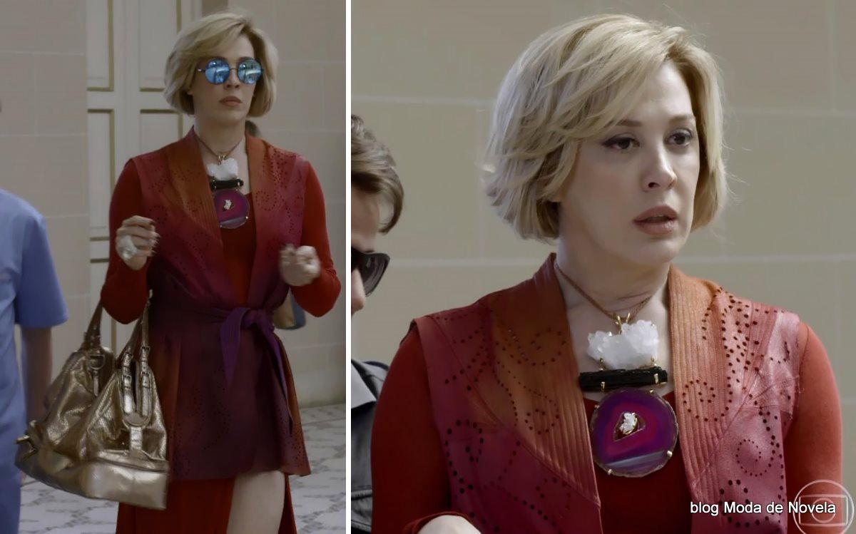 moda da novela Alto Astral, look da Samantha dia 8 de novembro
