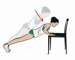 Image result for chair push ups