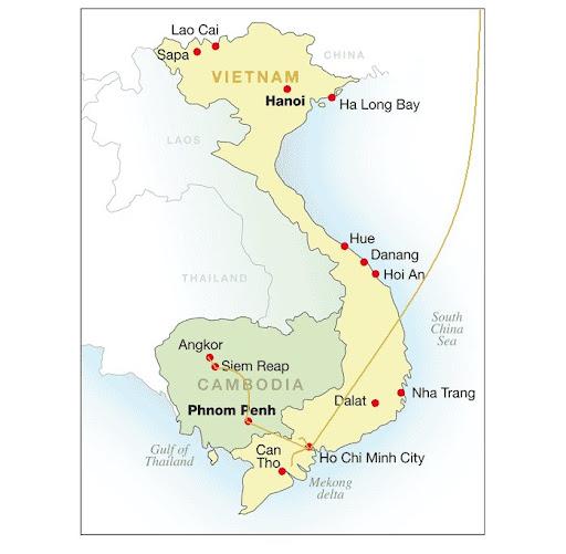 Superkid的2012暑假越南柬埔寨旅程示意圖