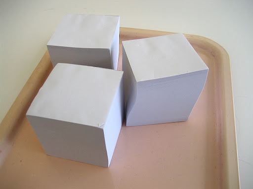 Blank memo cubes, calling out to be stamped!