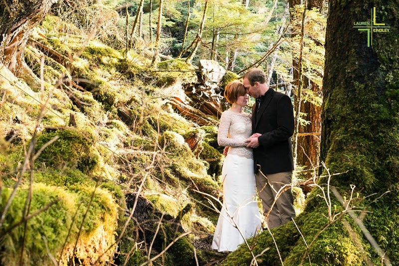 Rainforest wedding portraits