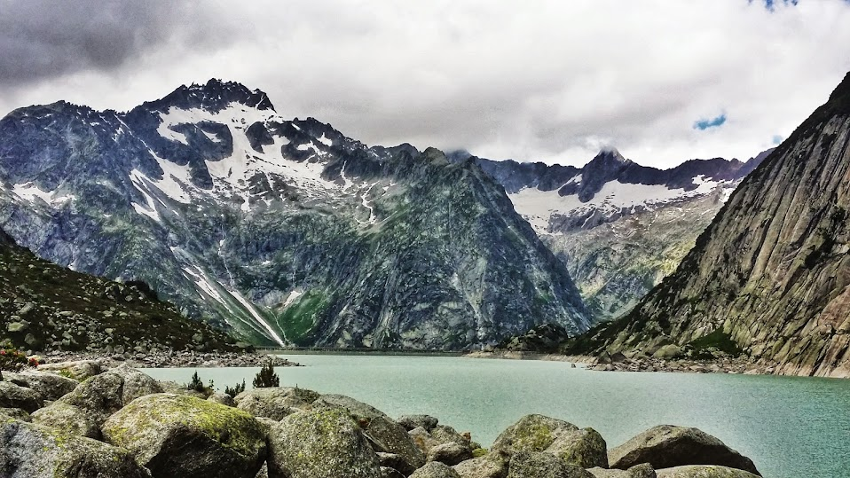 Gelmer Lake is a glacier fed lake.