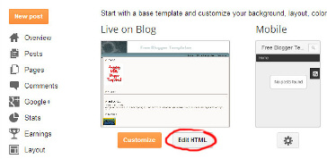 install blogger template