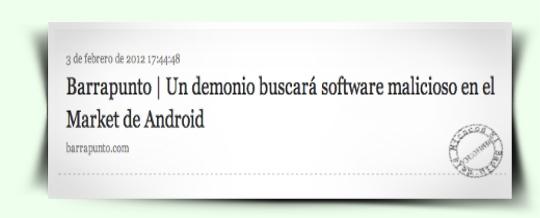 Notícia Barrapunto