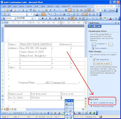 how to create a mail merge from an excel spreadsheet