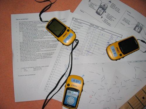 Tips, GPS toestelletje, handleiding, kaartje. Plaats van het gebeuren: Roosdaal.