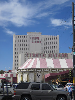 circus circus hotel casino vegas tower stock photo