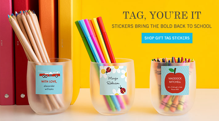 Label School Supplies with Personalized Stickers from Tiny Prints