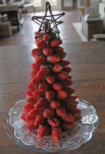 arvore natalina morangos
