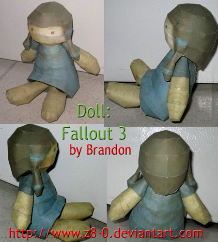 Fallout 3 Point Lookout Doll Papercraft