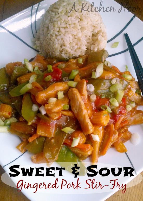 Sweet & Sour Gingered Pork Stir-Fry
