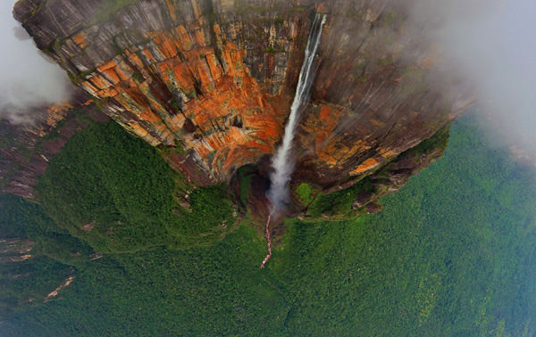 waterfall4 mini Sensational 360 Degree Aerial Panoramas Of Angel Falls [PHOTOS]