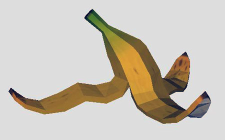SSBB Banana Peel Papercraft