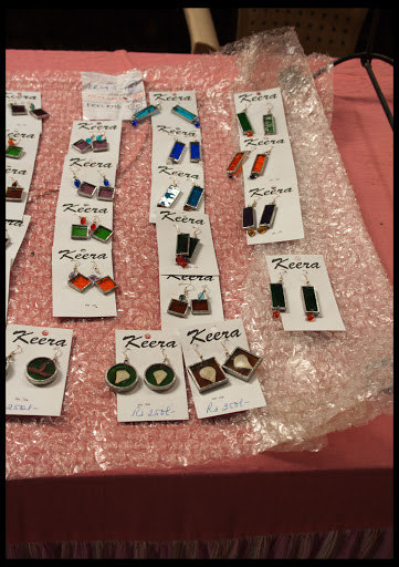 Earings made out of Stained Glasses