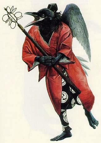 японским человеко-вороном Тенгу – символом раздора, мучителем дракона и разжигателем войн