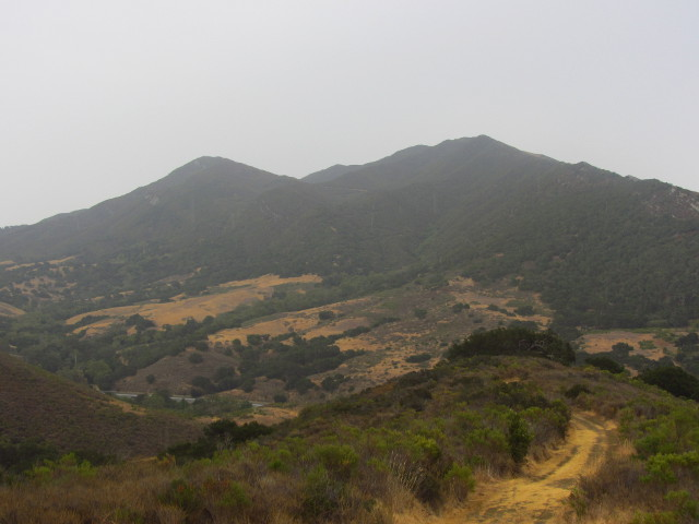 looking over toward Gaviota Peak