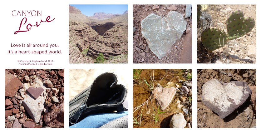 "My Heart-shaped World: ""Canyon Love"" – Heart-shaped images from the eastern Grand Canyon – May 2012 (by Stephen Lund)"