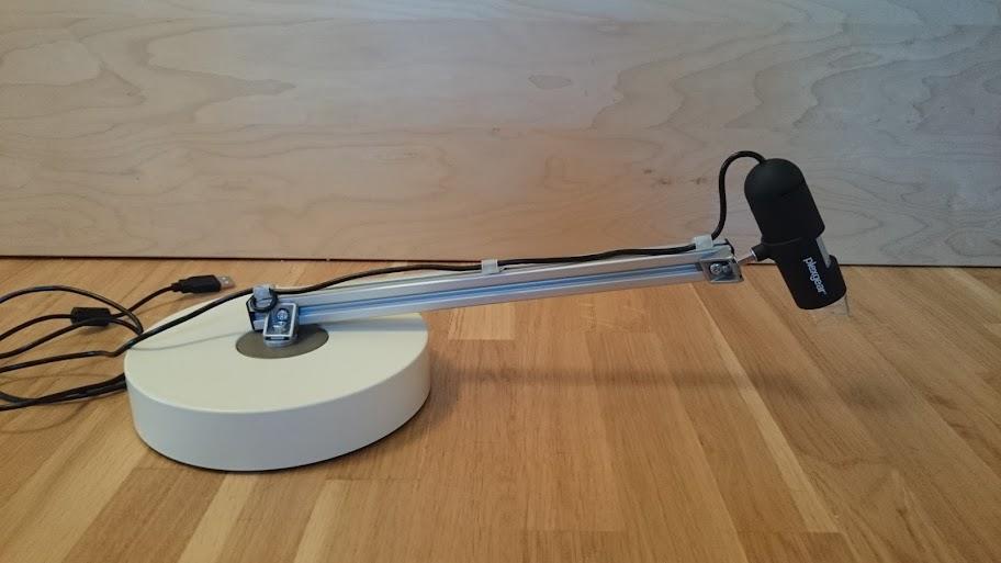 Mikroskop på kjell co för ytmonterat u mätinstrument verktyg