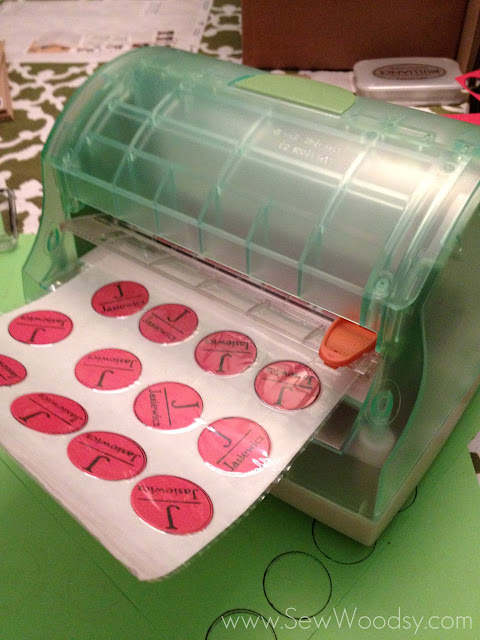 DIY Monogram Stickers For Cards