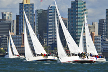 J/105 one-design sailboats- sailing Lipton Cup- San Diego