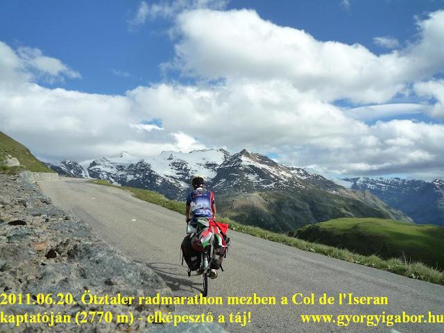 Györgyi Gábor & Francia Alpok kerékpártúra, Col de l'Iseran 2770 m