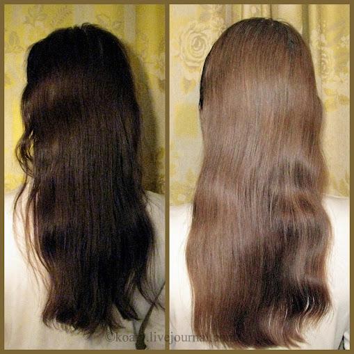 Цвет волос тёмный русый фото до и после