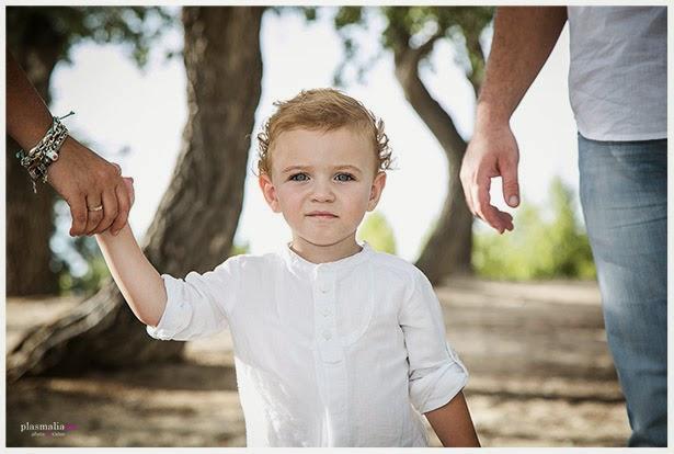 Fotografía de un niño para su primer book de fotos en Toledo