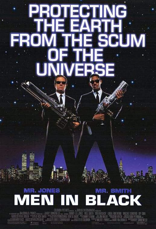 Poster Of Men in Black (1997) Full Movie Hindi Dubbed Free Download Watch Online At Alldownloads4u.Com