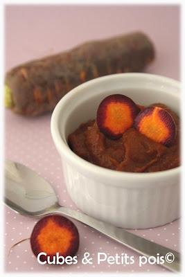 recette bébé 7 mois purée de carottes violettes et huile de pépins de raisin