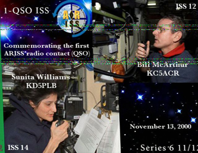 ARISS SSTV Image received by KP4MD on 4/13/2016