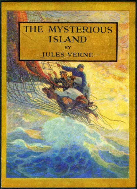 N. C. Wyeth - The Mysterious Island by Jules Verne, cover