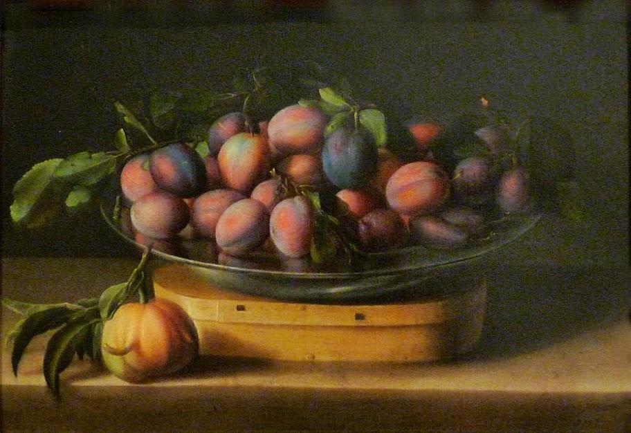 Louise Moillon - Plat de prunes