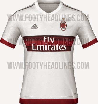 sports shoes 4f105 a0161 AC Milan 2015-16 Home Away Kits (Official release)