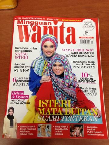 Shawl Tribal di Majalah Mingguan Wanita