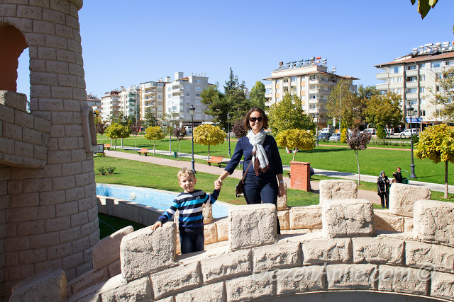 Masal Park'ta dolaşırken, Gaziantep