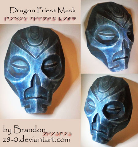 Skyrim Dragon Priests Mask Papercraft