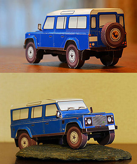 Land Rover Defender Papercraft