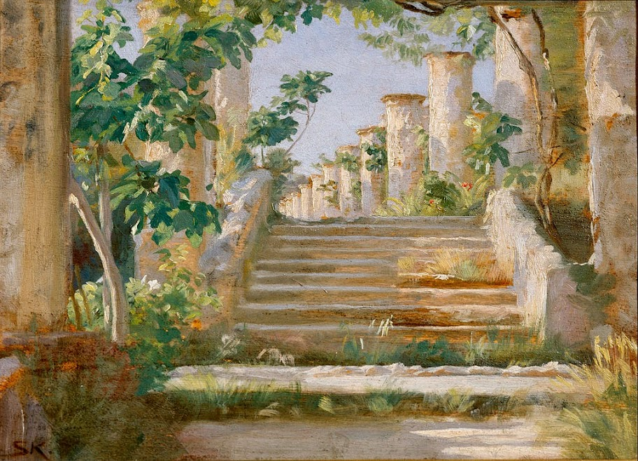 Peder Severin Krøyer - Loggia in Ravello - Google Art Project
