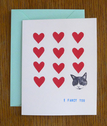 Show Off Your Love Of Cats And Crafts With A Card Featuring A Sweet Drawing  Of The Artistu0027s Kitty, Mao Mao, Alongside Hand Cut Paper Hearts, ...