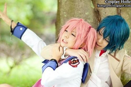 angel beats! cosplay - yui and hinata hideki by kousaka yun