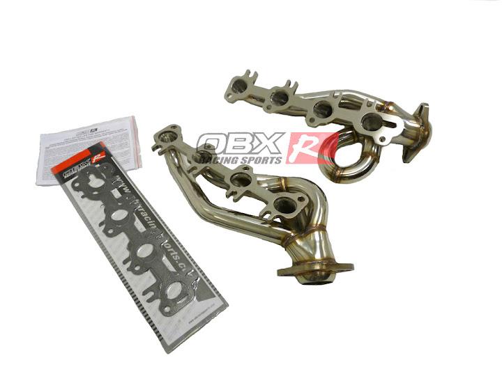 02 03 04 Dodge RAM 1500 4 7L V8 2 4 WD OBX Exhaust Header Shorty