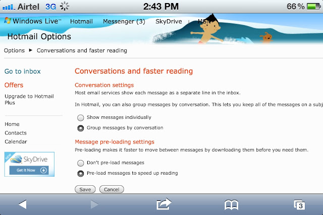 select faster reading & grouping the messages