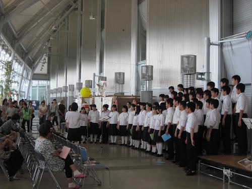 郡山の中学校の合唱部コンサート